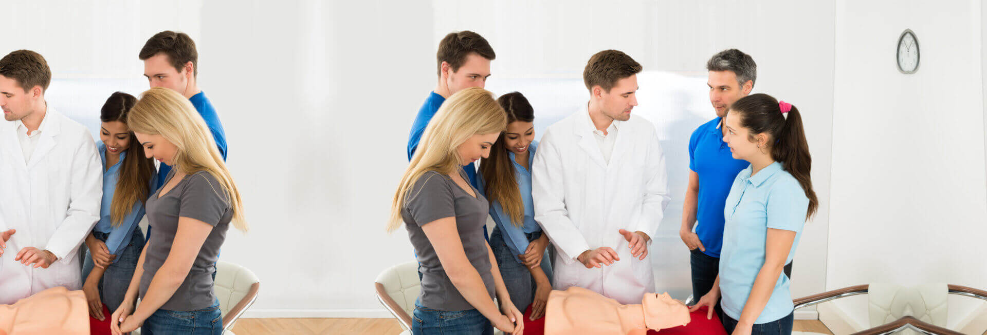 doctor doing first aid demonstration